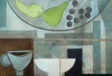 Kitchen table – oil and charcoal on canvas board – 25cm x 35cm – SOLD