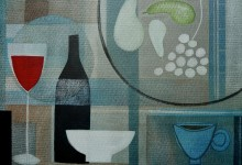 Kitchen table with cloth – oil and charcoal on canvas board – 45cm x 35cm – SOLD at Art4Macmillan Auction