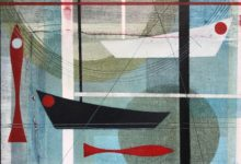 Red Herring.SOLD 35 x 25cm. Oil and mixed media on canvas board.