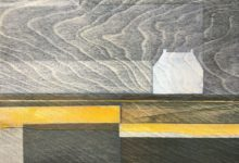 Mackerel sky. SOLD.Oil and acrylic on wood panel. 30 x 20cm.