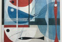 Row, row, row the boats. 30 x 30cm. Oil and acrylic on wooden board. Available