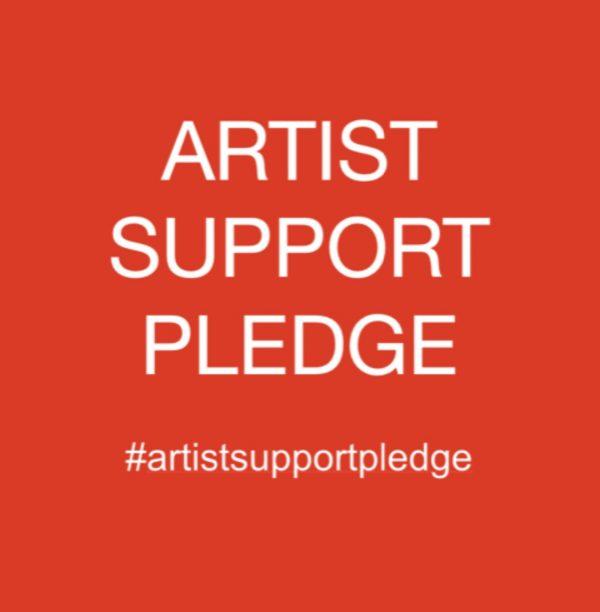 Artist support pledge logo